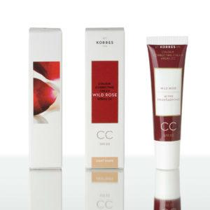 Korres Άγριο Τριαντάφυλλο CC Cream SPF 30 Ενυδατική Κρέμα για Κάλυψη των Ατελειών