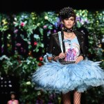 Moschino ss2018 Cindy Crawford's Kaia Gerber worked the runway