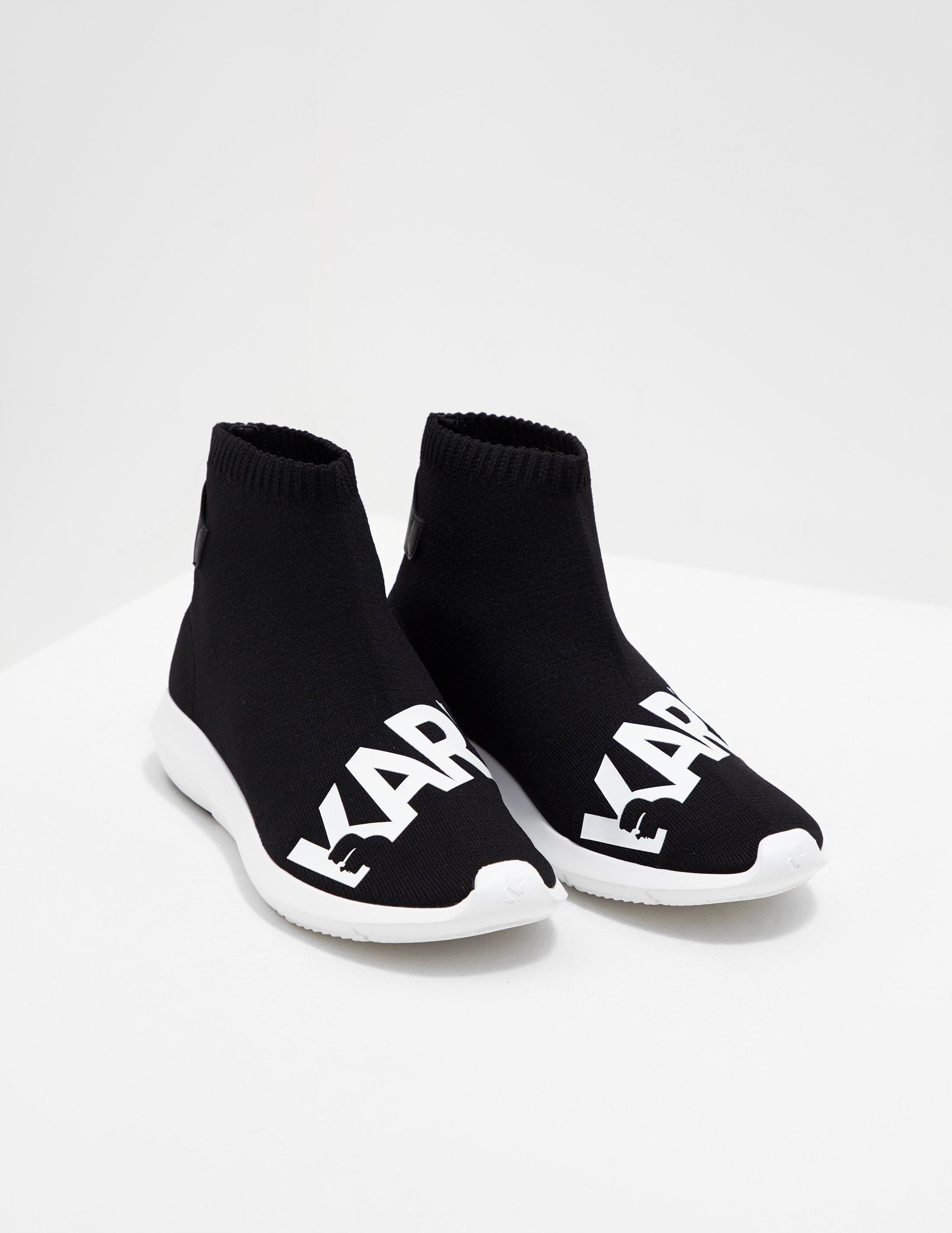 karl-lagerfeld-Black-Womens-Sock- shoes
